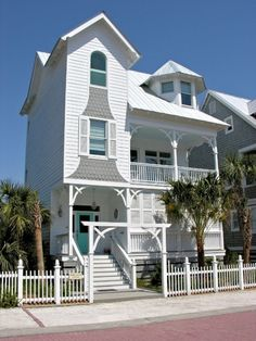 Love everything about this house. See interior pictures. House of Turquoise and teal, robin's egg blue, aqua, sky blue, seafoam green and ocean blue:  Annie Laurie Cottage