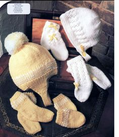 Baby Knitting Pattern or Reborn doll  Mittens Socks by carolrosa, £1.28