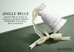 The 2017 PANDORA Christmas Ornament is here! Spend £99 or more to add this year's festive bell to your collection. #femalegears.com #random #lovethese #shopping #women #female