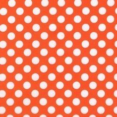 Tangerine Ta Dot by Michael Miller by NauvooQuiltCo on Etsy, $4.85