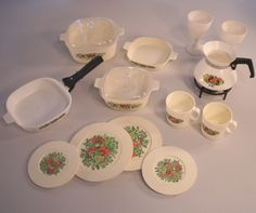 When I was a kid I had a set of play dishes exactly like this