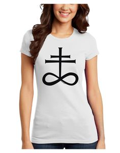TooLoud Sulphur Cross Juniors Petite T-Shirt
