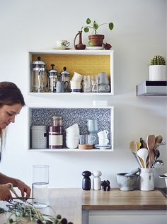 The IKEA Kallax collection Storage furniture is a vital section of any home. They give buy and allow you to hold track. Fashionable and delightfully easy the ledge Kallax from Ikea , for example. Ikea Eket, Ikea Wall, Kitchen Ikea, Kitchen Decor, Kitchen Shelves, Day Bed Frame, Microwave Shelf, Sofa Layout, Home Instead