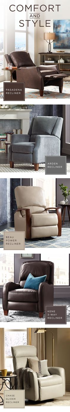 Relax in comfort and style with a recliner chair to match your home decor.