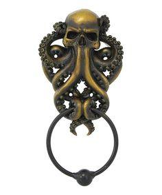 Octopus Skull Door Knocker