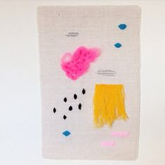 """""""I finally finished my Neon Sparks wall hanging and thought I'd brighten up Wednesday by offering it to my lovely IG following before listing it on Etsy.…"""""""