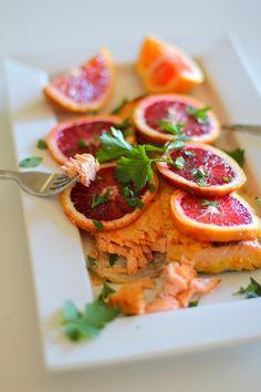 Ginger Orange Glazed Salmon #paleo #healthy #recipe
