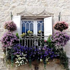 Balcony pots.  Lovely