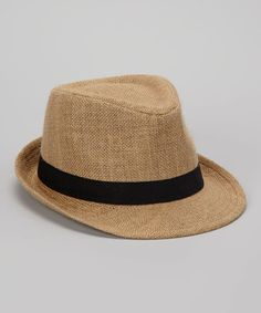Take a look at this Natural Hemp Fedora by Boardwalk Style on #zulily today!