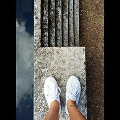 #architecture #lines #line #art #water #sky #geometric #geometricart #superga #shoes #cemetery #brioncemetery #brion #monument #carloscarpa #scarpa #vsco #vscocam