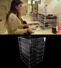 kim kardashian's makeup organizer! just saw on a rerun of keeping up with the kardashians and had to look it up. too bad it is 300 bucks...maybe I can find something equivalent