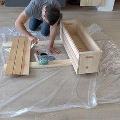 Wood Storage Crates - RYOBI Nation Projects Diy Storage Crate, Storage Shed Organization, Firewood Storage, Storage Bins, Wood Projects, Projects To Try, Homemade Modern, Palette, Plastic Storage