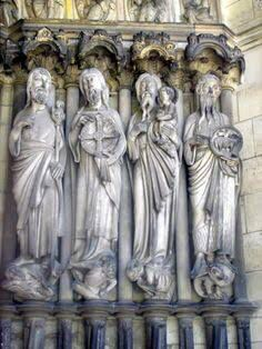 French Cathedrals Gothic Architecture Art Sculptures Assemblages Macabre Monuments Temples History