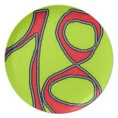 eighteen melamine plate