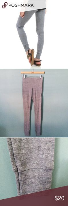 American Apparel Tri Blend Long Underwear These unisex long underwear from American Apparel can be worn around the house staying comfy and cozy or as leggings. I love the soft fabric blend and it doesn't make me feel constricted. Tapered cuff. These are the ultimate for cold and rainy days snuggled up watching a movie.. or two 😊 Tri - Blend not sold in stores anymore. American Apparel Pants Leggings