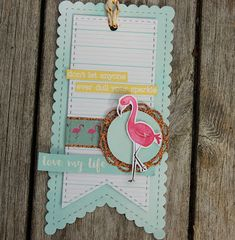 HOBBYKUNST: Flamingo tag - don't let anyone ever dull your sparkle Don't Let, Let It Be, Flamingo, Sparkle, Love, Tags, Flamingo Bird, Amor, Flamingos