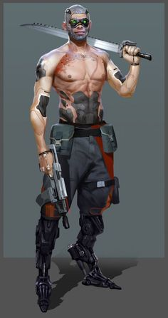 Coole Cyberpunk-Charakter-Konzeptkunst, Inspiration & Design What's Example? Most useful Illustration Examples of the Year Cyberpunk 2077, Arte Cyberpunk, Character Portraits, Character Art, Science Fiction, Arte Ninja, Gato Anime, Sci Fi Characters, Gangsters