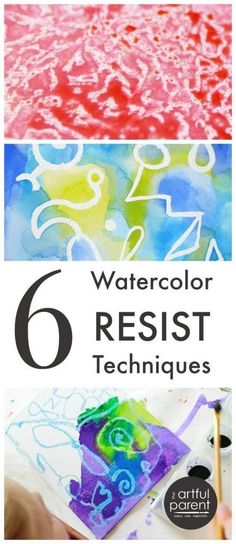 6 Watercolor Resist Techniques to Try #watercolorarts