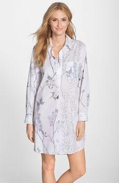 Natori  Sakuri  Print Cotton Voile Sleep Shirt Nightgowns For Women 83619d0f8