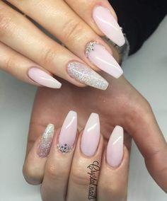 graceful swarovski nail art