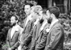 Groom and groomsmen waiting for the bride - at The Gables