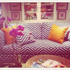 Fave sofa so far...we've spec'd some super cute ones tho coming up for fall... Lilly Pulitzer Home-spring 2011.