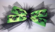 WILD AND BATTY HALLOWEEN HAIR BOW - available on therubypig.com