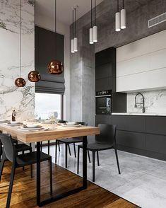 The Best 2019 Interior Design Trends - Interior Design Ideas Kitchen Dinning, Home Decor Kitchen, Kitchen Furniture, Home Kitchens, Furniture Stores, Modern Kitchen Interiors, Interior Design Kitchen, Modern Interior Design, Interior Design Software
