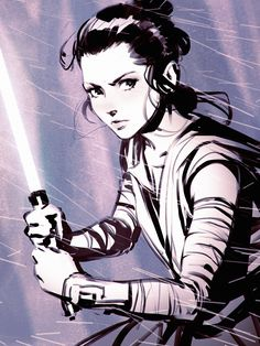 Rey by Kuvshinov-Ilya.deviantart.com on @DeviantArt - More at https://pinterest.com/supergirlsart/ #rey #starwars #star #wars #the #force #awakens #theforceawakens #lightsaber