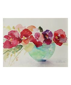 Take a look at this Flowers in Glass Bowl Wrapped Canvas today!