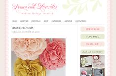 Blog Redesign: Lemon and Lavender