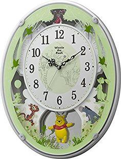 Amazon|Disney ( ディズニー ) くまのプーさん 電波 からくり キャラクター 掛け時計 アナログ M523 白 リズム時計 4MN523MC03|置き時計・掛け時計 オンライン通販