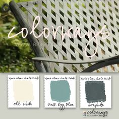 Colorways with Leslie Stocker » Behind the scenes story of The Colorways Swing. Annie Sloan Chalk Paint. Graphite. Duck Egg Blue. Old White