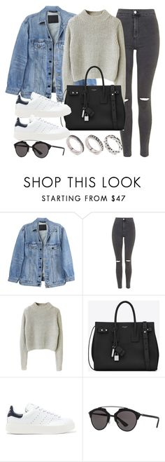 """""""Sin título #12063"""" by vany-alvarado ❤ liked on Polyvore featuring Y/Project, Topshop, Yves Saint Laurent, adidas Originals, Christian Dior and ASOS"""