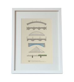 Bridges over the River Liffey. Designed and Made in by CloverRua
