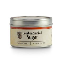 Bourbon Smoked Sugar is a raw sugar smoked with barrel staves. It has caramel flavors and the richness of smoked oak. Spice Set, Shaker Bottle, Bourbon Barrel, Edible Plants, Fun Cocktails, Barbecue Sauce, Coffee Cans, Meat Recipes