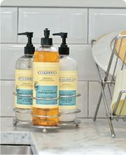 Caldrea's products in in Blue Basil Sage are amazing.  http://www.caldrea.com/CategoryDetail.aspx?CategoryName=Fragrance%20No.%2014