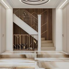 40 Perfect Staircase Railing Designs and Ideas - HERCOTTAGE Everyone strives to have Perfect Staircase Railing Designs and Ideas for their house, however, there are more factors to it. Staircase Railing Design, Modern Stair Railing, Staircase Handrail, Interior Staircase, Modern Stairs, Interior Exterior, Home Interior, Interior Architecture, Staircases