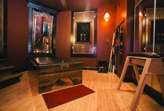 Inside Chicago's Underground Sex Dungeons Inside Chicago Chicago's Sex Dungeons: Chicago Dungeon Rentals - Thrillist Dungeon Room, Best Safes, Playroom Furniture, Red Rooms, California Homes, Play Houses, My Dream Home, My House, Chicago