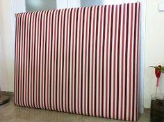 So Glittering: Hacer un cabecero tapizado; tutorial paso a paso                                                                                                                                                                                 Más Ceiling Curtains, Diy Headboards, Creative Home, Ideas Para, Sweet Home, Home Appliances, Furniture, Design, Home Decor