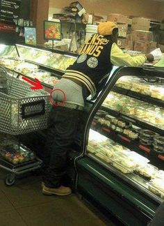 Gangsta Sagging Poop Stain - Dirty Underwear at Walmart - WTF Fail Gross - Funny Pictures at Walmart