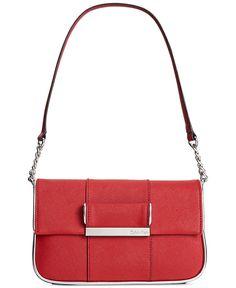 Calvin Klein Saffiano Demi Bag - Calvin Klein - Handbags & Accessories - Macy's