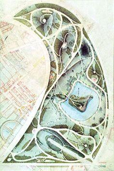 Plan du Parc des Buttes-Chaumont (1888)