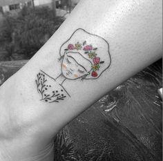 Frida Kahlo by Sampa tattoo