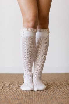 Hey, I found this really awesome Etsy listing at https://www.etsy.com/listing/205502269/lace-boot-socks-ivory-lacey-trim-ruffle