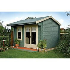 Marlborough Tongue & Groove Timber Log Cabin With Felt Roof Tiles With Assembly Service Felt Roof Tiles, Tongue And Groove Timber, Timber Logs, Apex Roof, How To Build A Log Cabin, Roof Shapes, Roofing Felt, Chalet Style, Garden Buildings