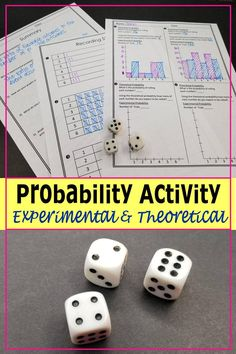 Looking for a hands-on probability activity?  This is perfect!  Students use theoretical and experimental probability to discover the law of large numbers.  Students will visually see the law of large numbers in action.  Click here for more information.