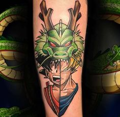 Dragon Ball tattoos done by To submit your work use the tag And don't forget to share our page too! Gamer Tattoos, Badass Tattoos, Trendy Tattoos, Body Art Tattoos, Tattoos For Guys, Tatoos, Manga Tattoo, Z Tattoo, Calf Tattoo