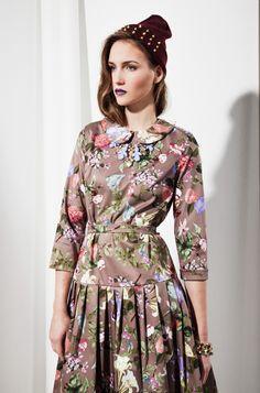 50s style Flower Dress