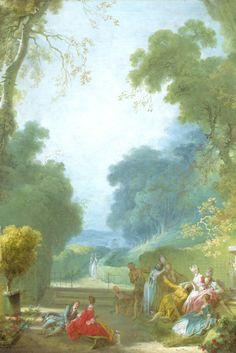 """""""Le Jeu de la Main chaude"""" by Jean-Honoré Fragonard."""